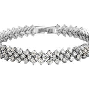 1cm Round Cut LRB Tennis Bracelet