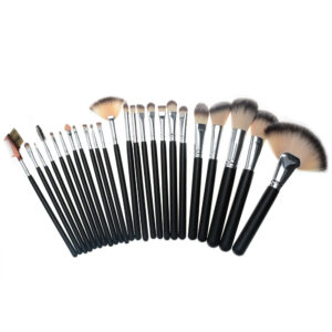 Black 24pcs Professional Make Up Brush Set-1