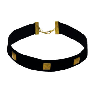 Black Gold Box Velvet Choker