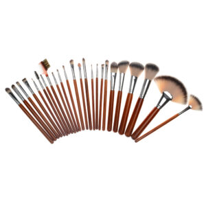 Brown 24pcs Professional Make Up Brush Set-1