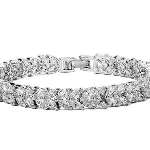 Oval Marquise Diamond Cut LRB Bracelet