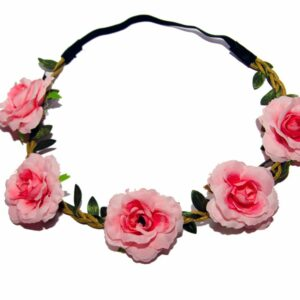 Pink Floral Flower Head Band