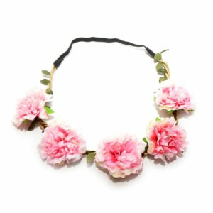 Pink Fluffy Flower Head Band