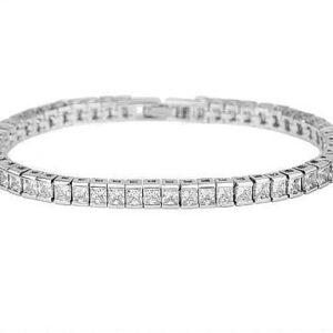Square Diamond Cut LRB Tennis Bracelet