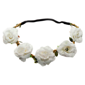 White Floral Flower Head Band