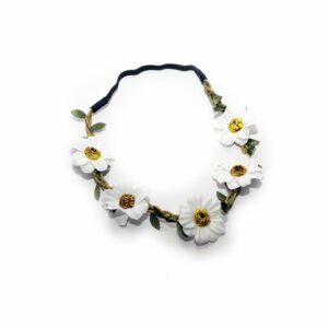 White Sunflower Head Band