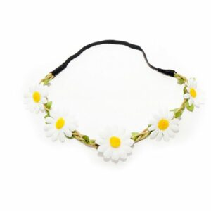 White_Yellow Sunflower Head Band