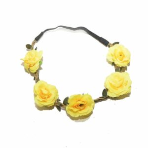 Yellow Floral Flower Head Band