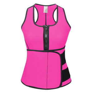 Pink Training Top With Adjustable Waist Belt