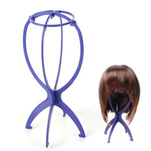 Blue Plastic Wig Stand