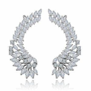 Cuff Marquis Cut LRB Earrings