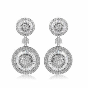 Round 2 Layer Square Marquis Cut LRB Earrings