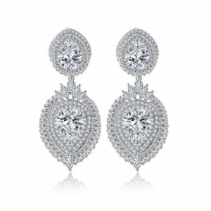 Stephanie 2 Layer Pear Marquis Cut LRB Earrings