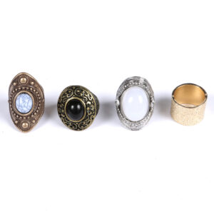 4Pcs Gold Antique Ring Set