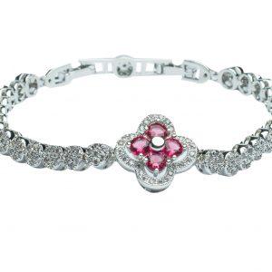 Pink Clover FIne Jewellery Bracelet